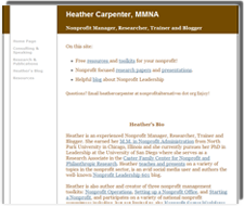 Visit Nonprofit Alternatives: Heather Carpenter, MMNA - Nonprofit Manager, Researcher, Trainer and Blogger
