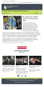 Simon Wiesenthal Center: Giving Tuesday 2013