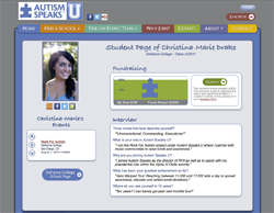 Autism Speaks Personal Fundraising Page Screenshot. Source: Care2.com Frogloop Blog.
